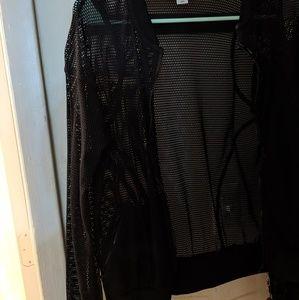 Forever 21 Long sleeve mesh zip up